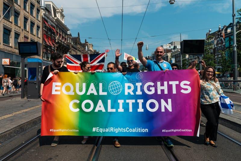 Gay Pride à Amsterdam 2019 image stock
