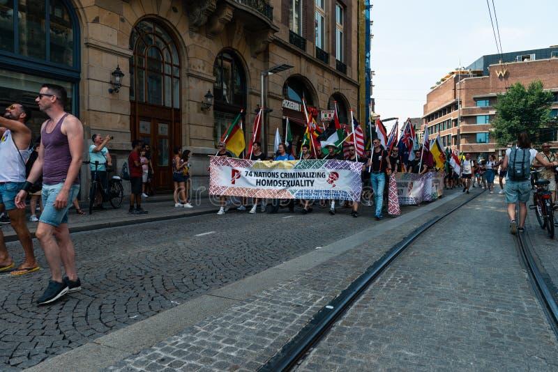 Gay Pride à Amsterdam 2019 photos stock