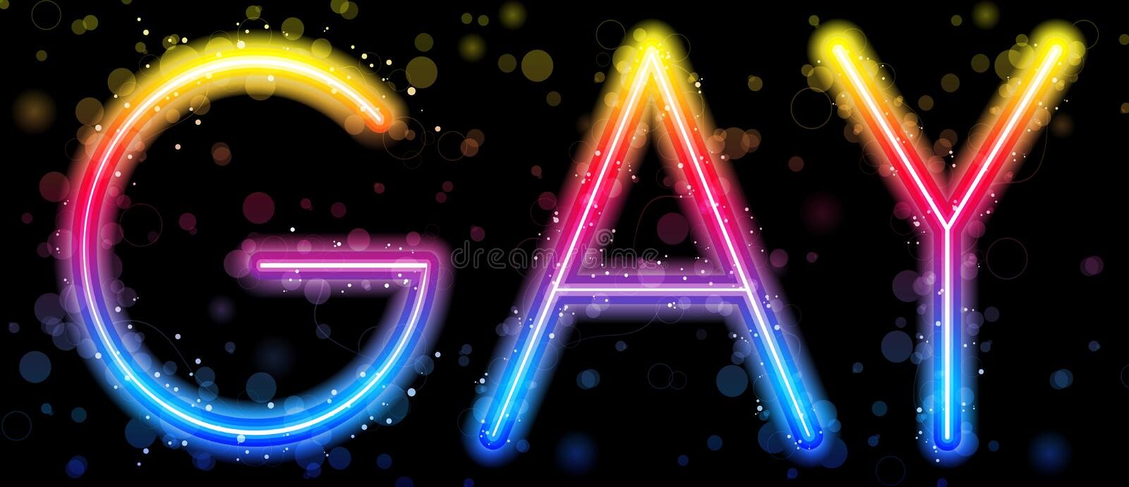 Gay Pride Abstract Colorful Stock Photo