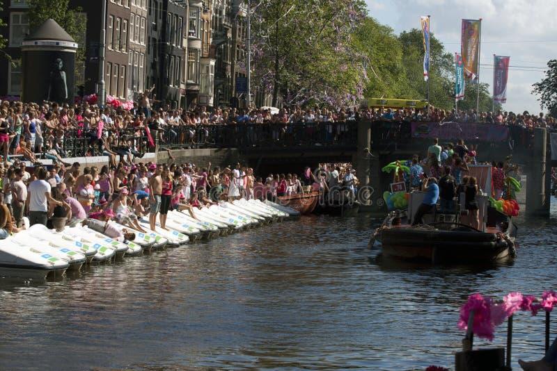 Gay pride Amsterdam immagine stock libera da diritti
