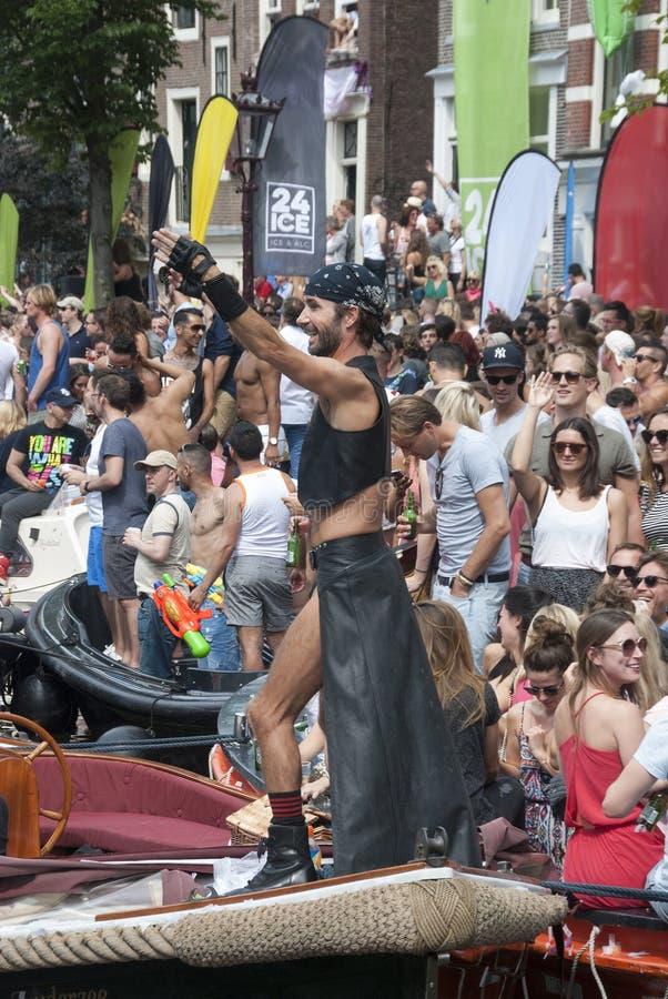 Gay pride Amsterdam 2015 fotografia stock libera da diritti
