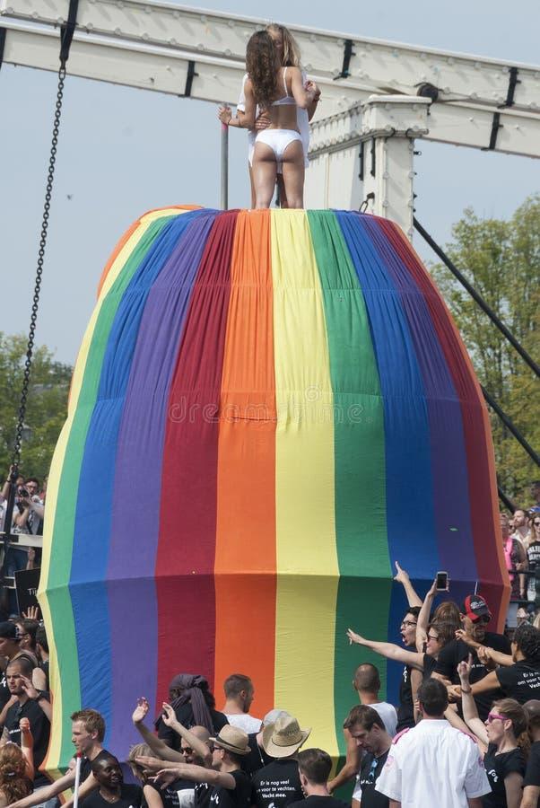Gay pride Amsterdam 2015 immagine stock