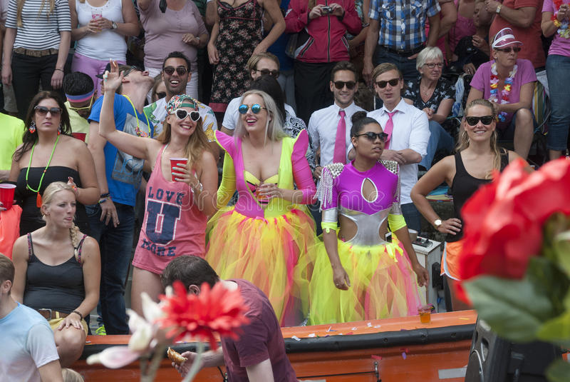 Gay pride Amsterdam 2015 immagini stock libere da diritti