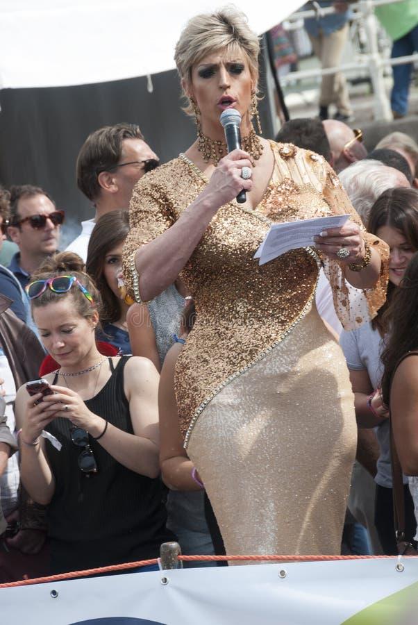 Gay pride Amsterdam 2015 fotografie stock libere da diritti