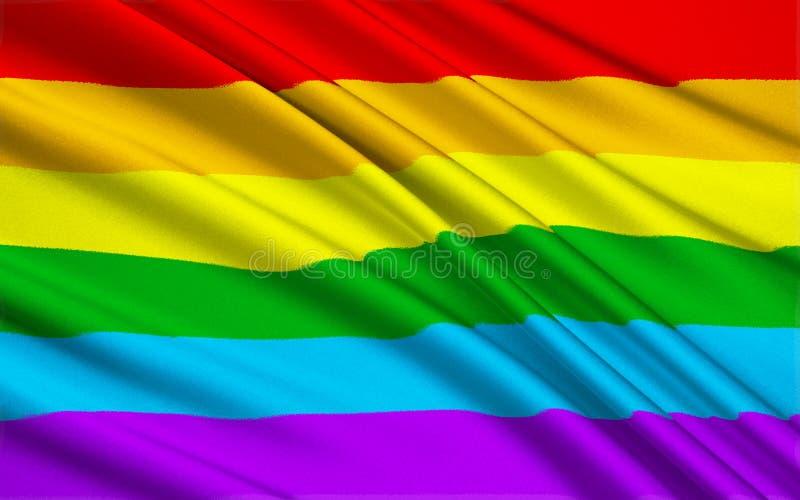 Gay Pride Flag illustrazione di stock