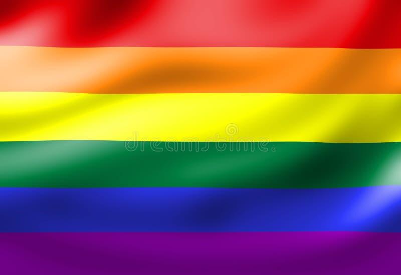 Gay pride flag royalty free illustration