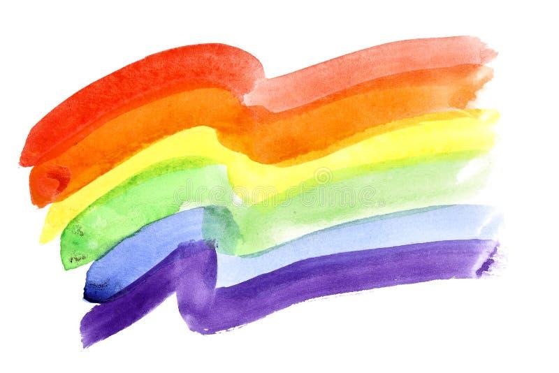Gay Pride Flag ilustración del vector