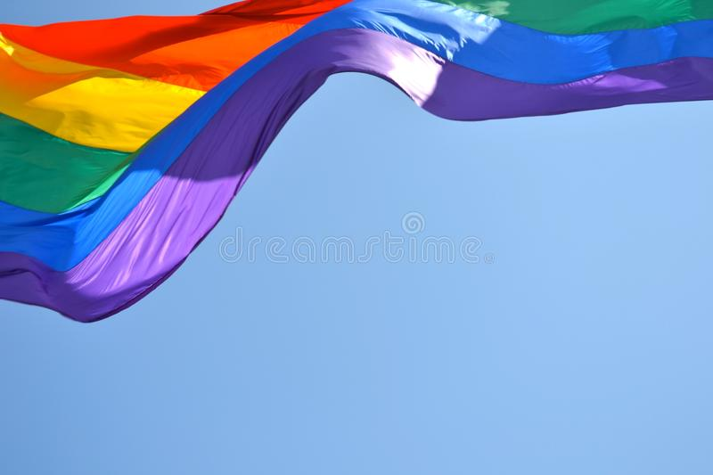 Gay Pride Flag in San Francisco stock images
