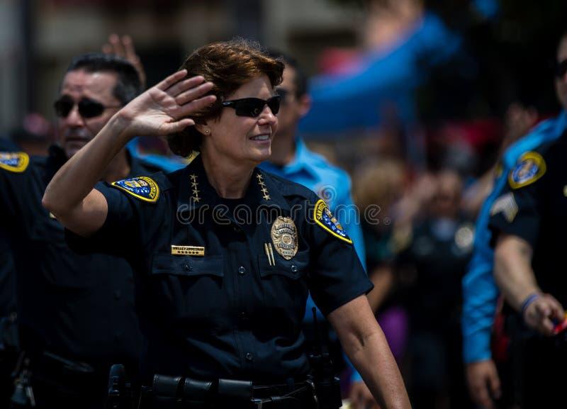 Gay pride 2017, forza di polizia di San Diego LGBT fotografia stock