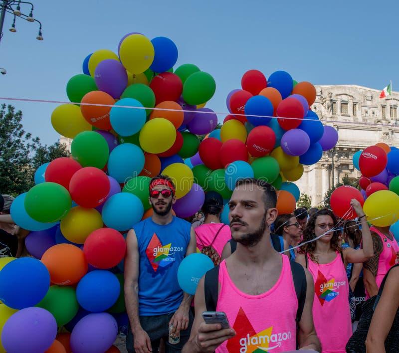 Gay Pride gai à Milan photographie stock libre de droits