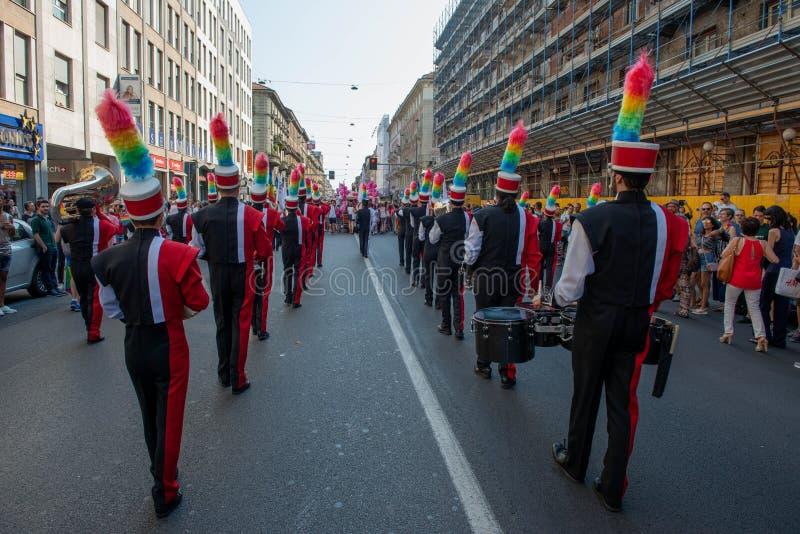 Gay Pride gai à Milan images libres de droits