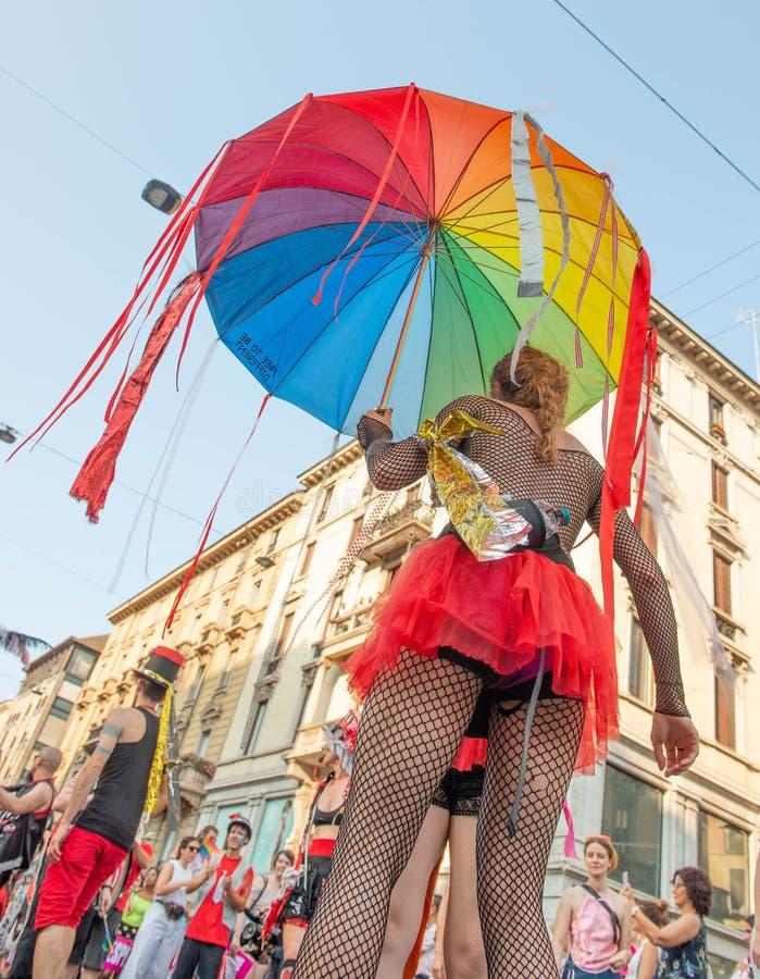 Gay Pride gai à Milan image stock