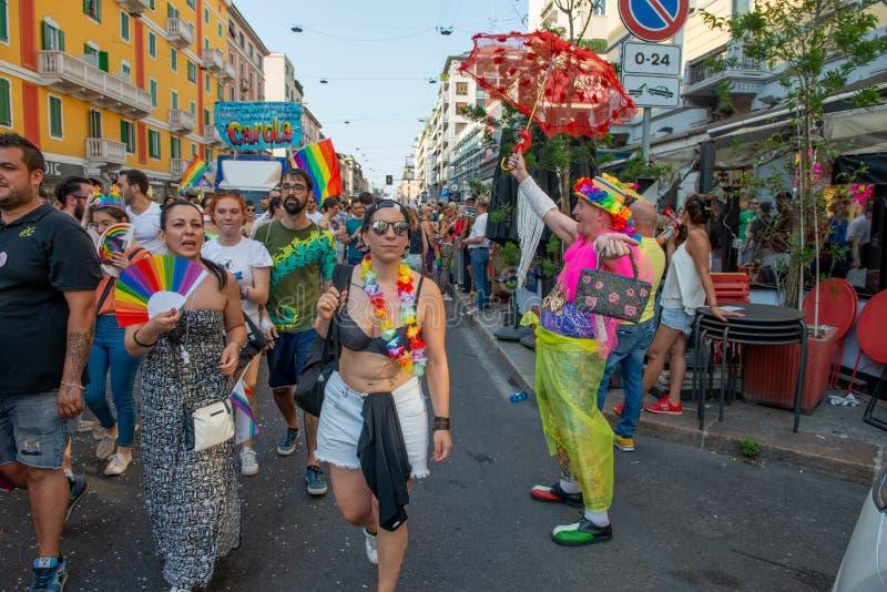 Gay Pride gai à Milan photos stock