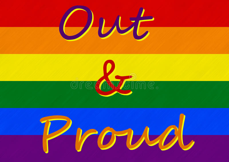 Download Gay Pride - I Am Out And I Am Proud Stock Illustration - Illustration of banner, sexual: 27700321