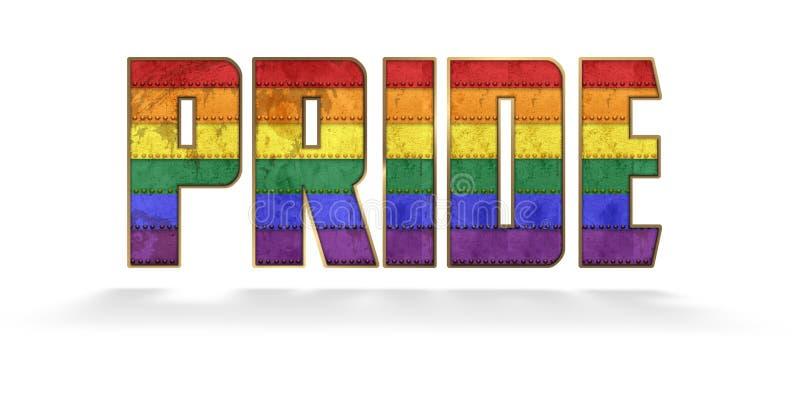 Gay Pride Lettering fotografía de archivo