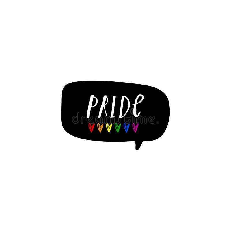 Gay Pride LGBT begreppsillustration Clipart EPS stock illustrationer