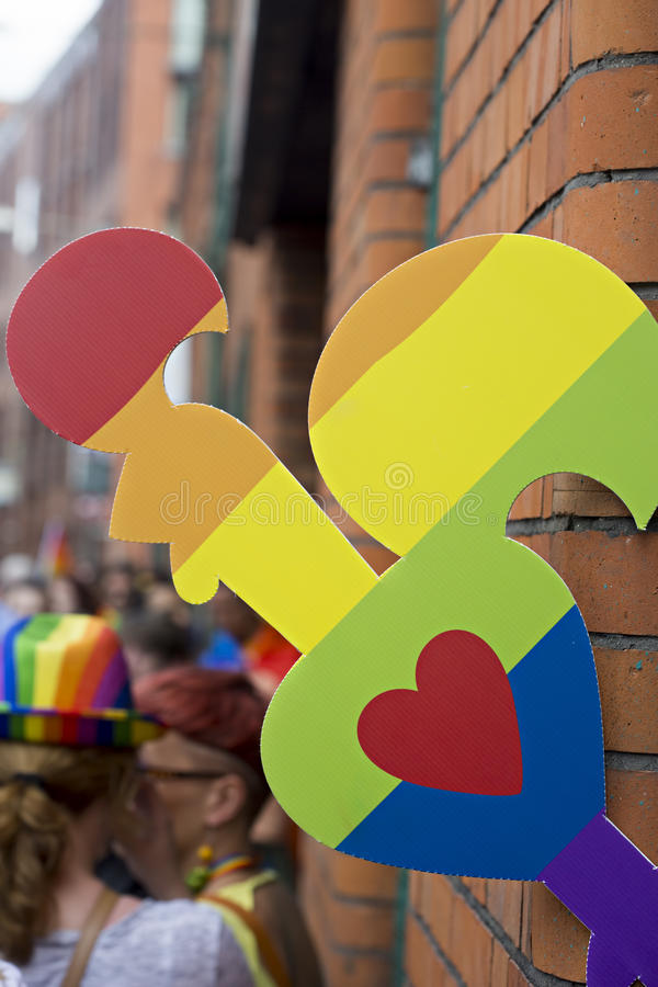 Gay pride lgbt icon stock photos