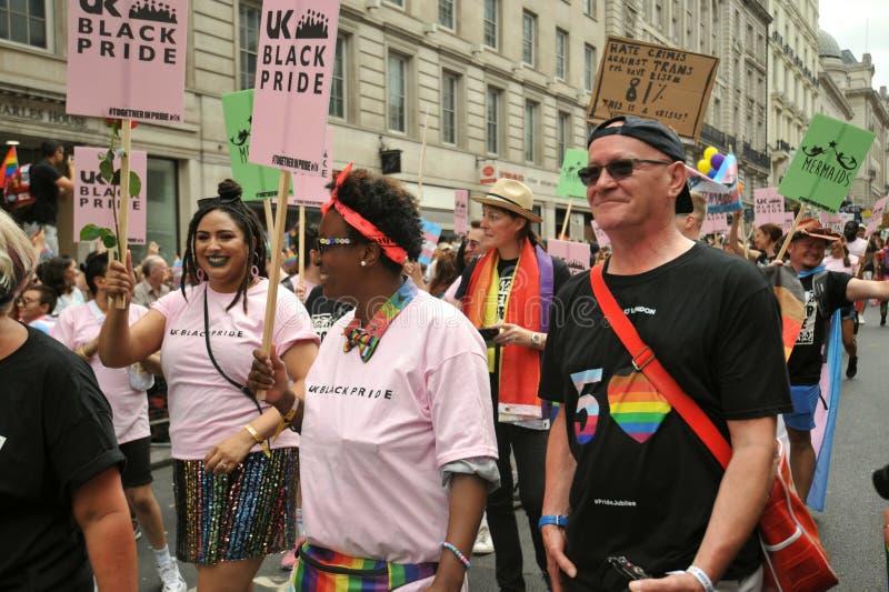 Gay pride nero di Londra a Londra, Inghilterra 2019 immagine stock