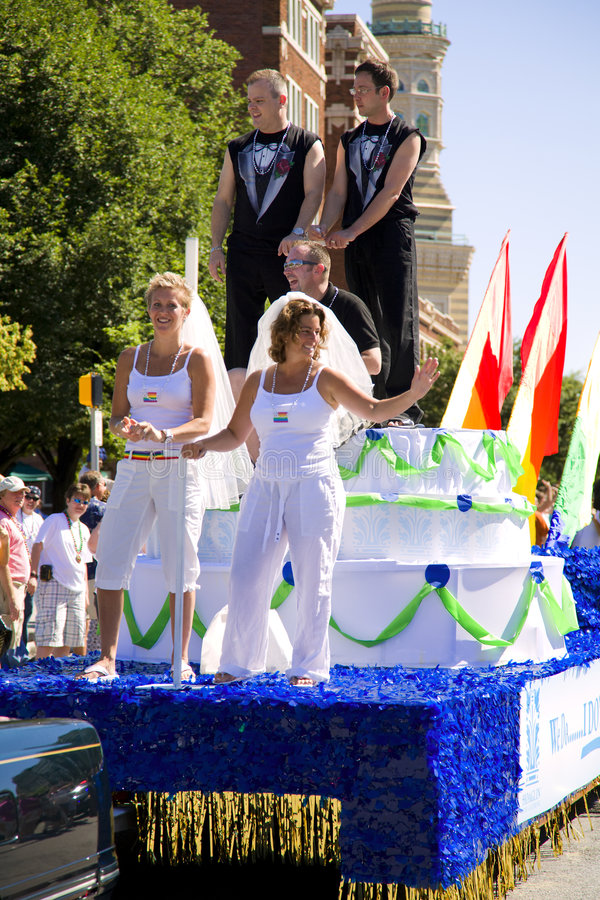 Gay Pride Parade. In Indianapolis on June 15, 2008 stock image