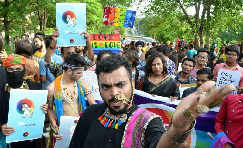 Gay pride parade in Bhopal royalty free stock photo