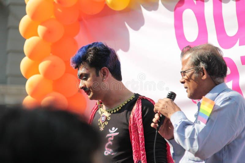 Gay Pride parade in Mumbai stock image