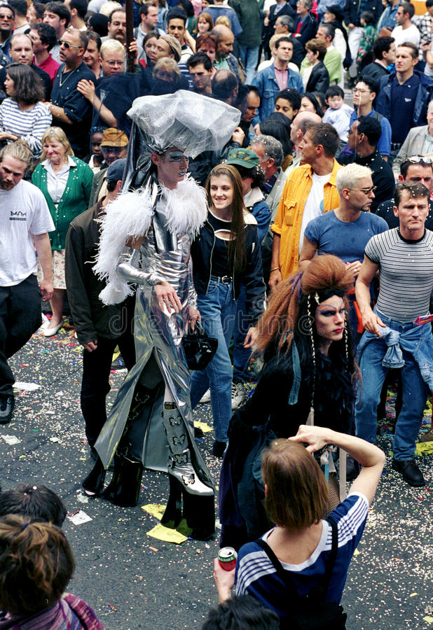 Gay Pride in Paris. Gay pride Parade in the street of Paris in France