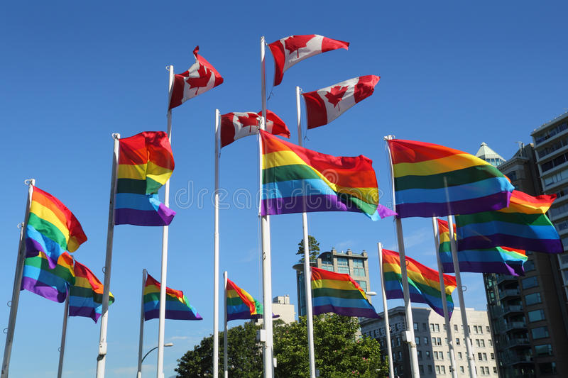 Download Gay Pride Rainbow Flags, Vancouver Royalty Free Stock Photography - Image: 26107107