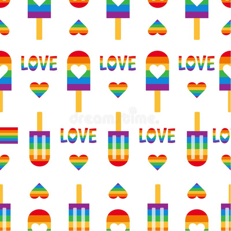 Gay pride seamless pattern LGBT vector background stock images
