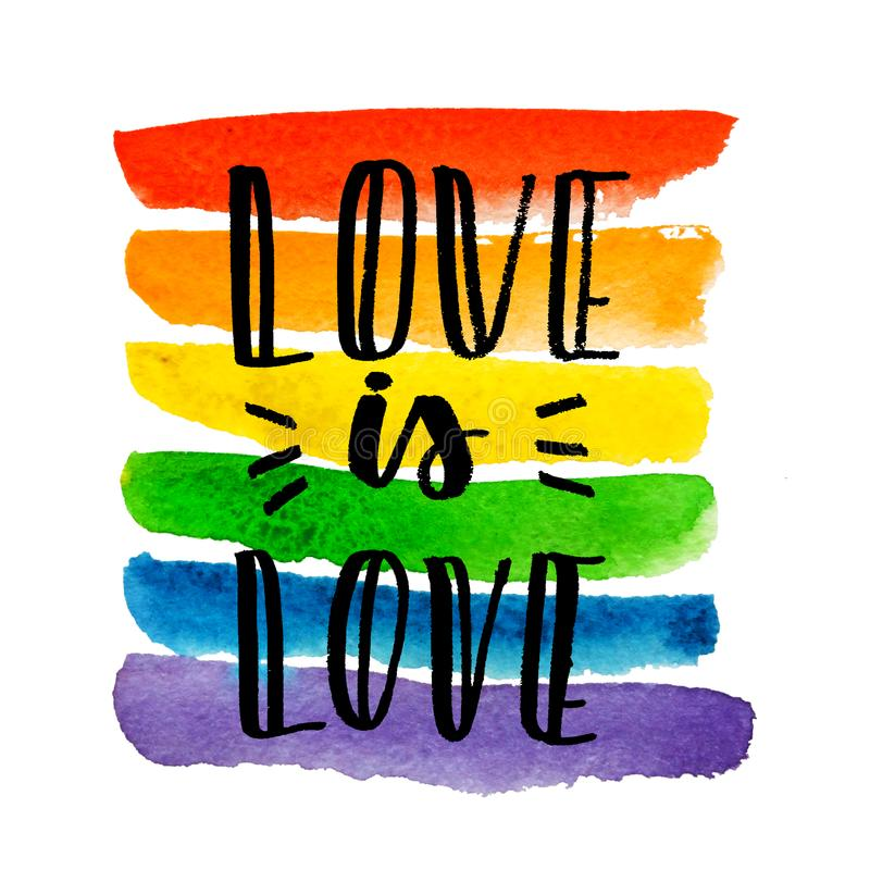Gay pride. Text on rainbow texture. vector illustration