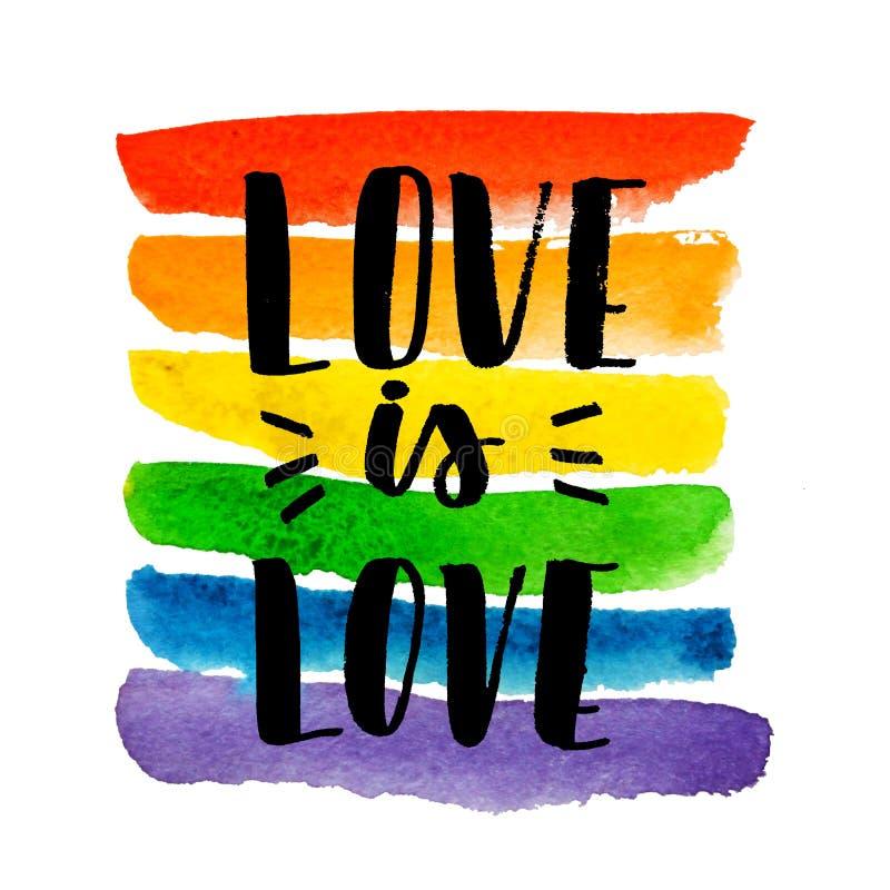 Gay pride. Text on rainbow texture. stock illustration