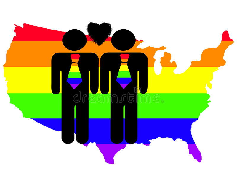Gay Pride in the US stock illustration