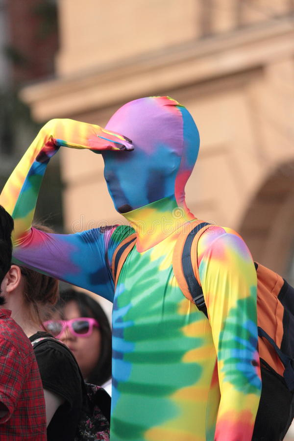 Download Gay rainbow costume editorial stock photo. Image of civil - 26109908
