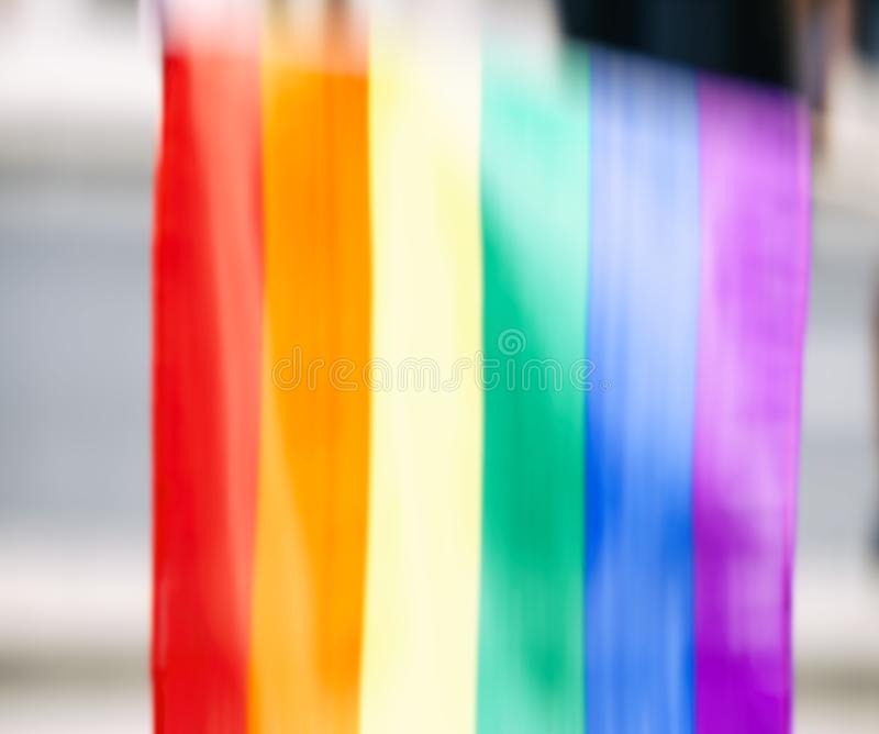Gay rainbow flag, abstract motion blur effect. Gay rainbow flag, abstract motion blur effect royalty free stock image