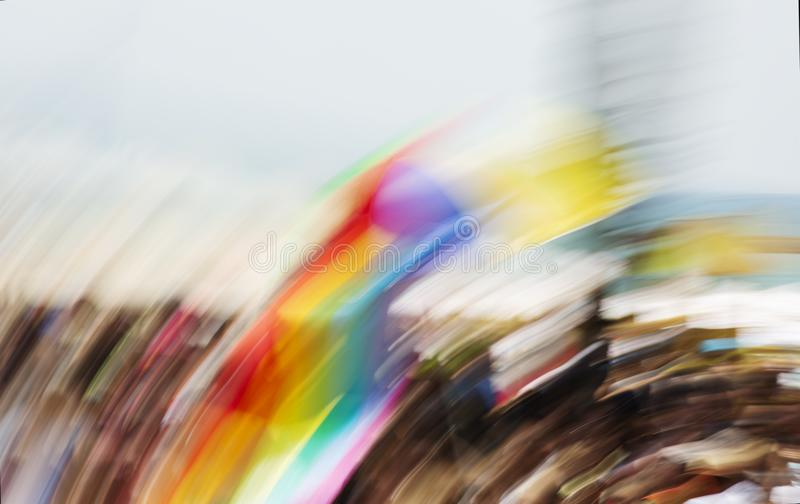 Gay rainbow flag, abstract motion blur effect. Gay rainbow flag, abstract motion blur effect stock photography