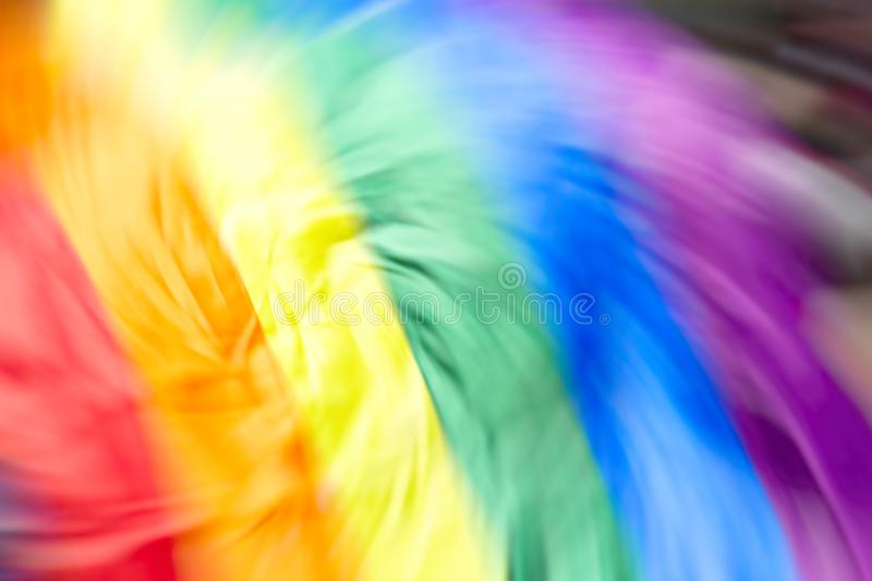 Gay rainbow flag, abstract motion blur effect.  stock photography