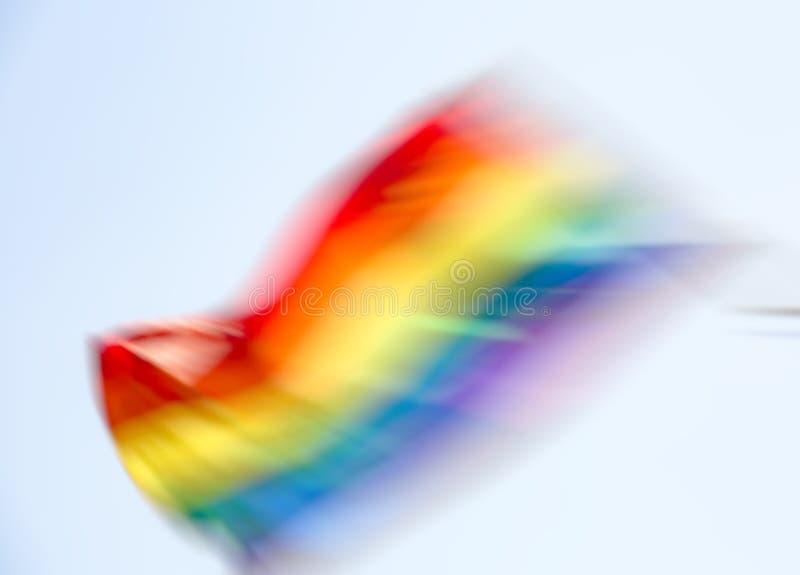 Gay rainbow flag, abstract motion blur effect. Gay rainbow flag, abstract motion blur effect stock photo