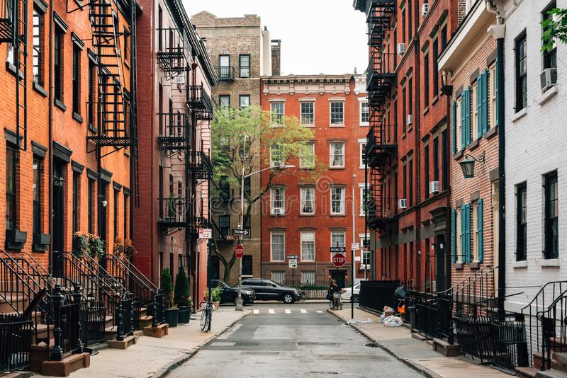 Gay Street, in Greenwich Village, Manhattan, New York City stock images
