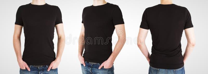 Gay tres en camiseta negra imagenes de archivo