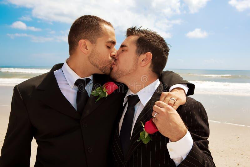 Gay wedding kiss stock photo image of people beach 10446888 gay wedding kiss junglespirit Gallery