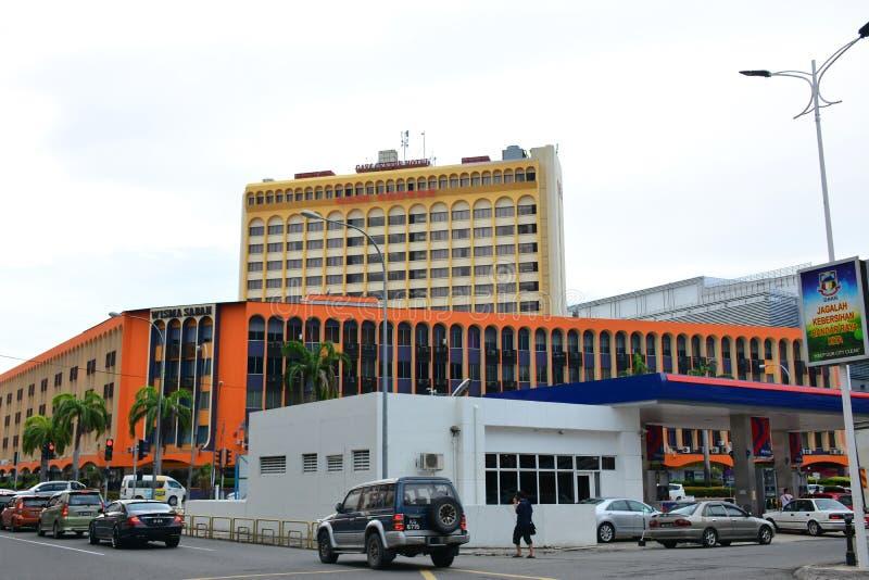 Gaya Centre Hotel Facade en Kota Kinabalu, Malasia foto de archivo