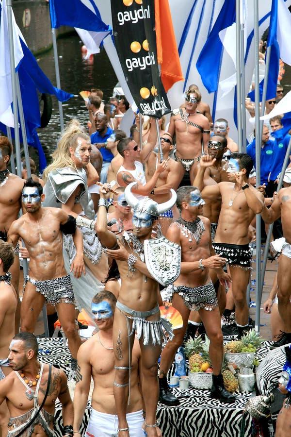 Gaydar tijdens de Parade Amsterdam, 2008 van het Kanaal royalty-vrije stock foto's