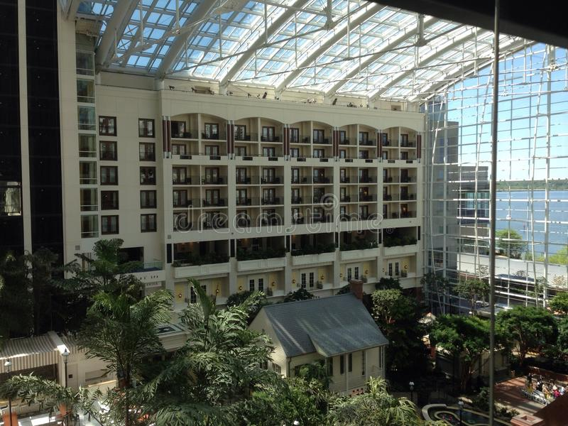 Gaylord National Harbor Balcony View photographie stock libre de droits