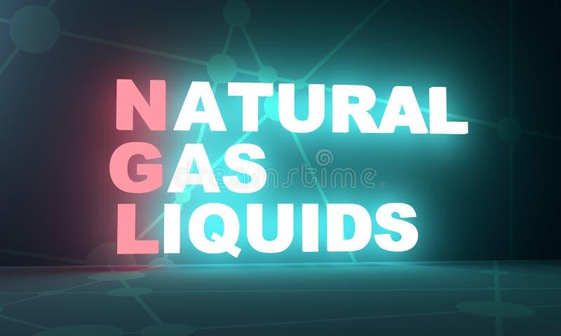 Gazów naturalnych ciecze ilustracja wektor