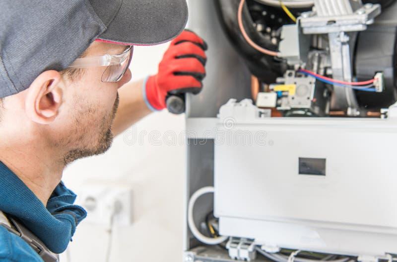 Gaz central Heater Repair images stock