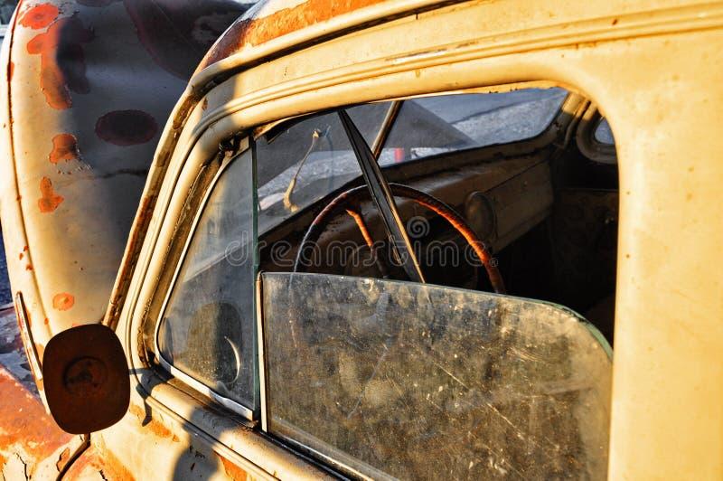 Gaz M20 Pobeda junk car stock image