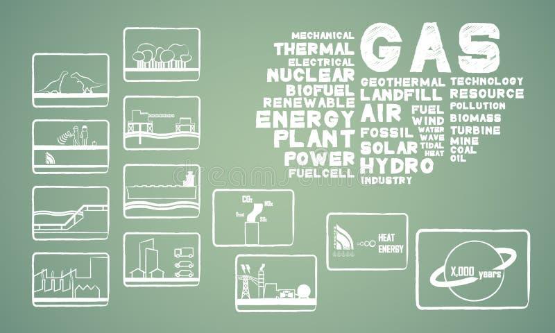 Gaz naturalny energia ilustracji