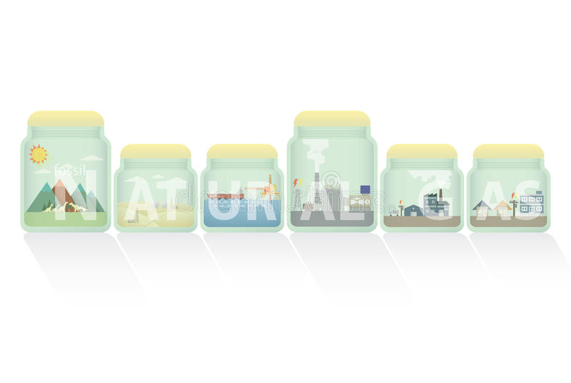 Gaz naturalny w słoju ilustracji