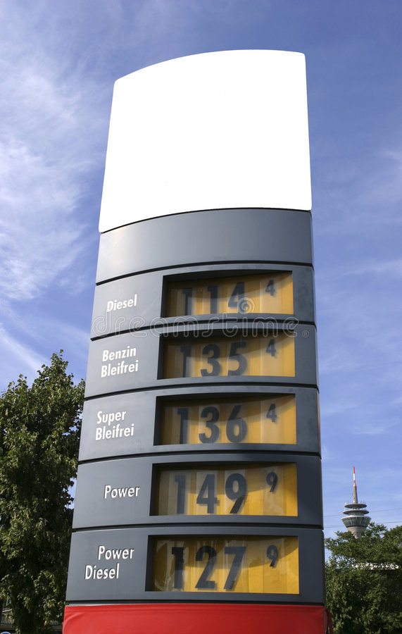 Download Gaz price display stock photo. Image of price, letters - 5156914