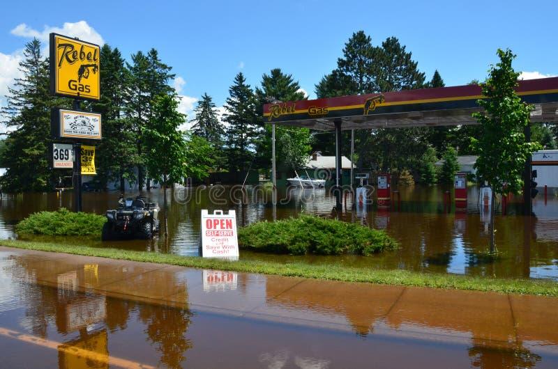 Gaz rebelle en inondation photo libre de droits