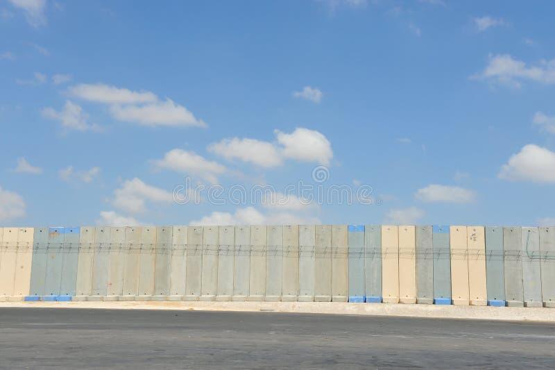 gaza israel avskiljandevägg arkivfoton